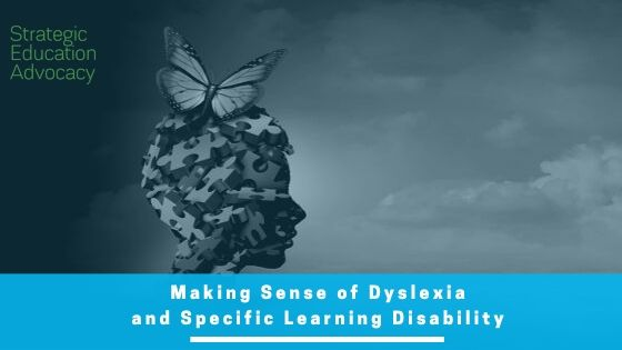 dyslexia specific learning disability SLD IEP